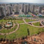 פארק שכונתי בהקמה - צילום פיתוח אורבני. סטודיו ארטרון - צילום פרוייקטים, בינוי פיתוח ותשתיות